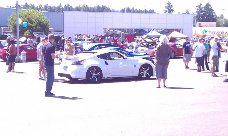 Me at the Nissan Mitsubishi meet in Olympia August 20