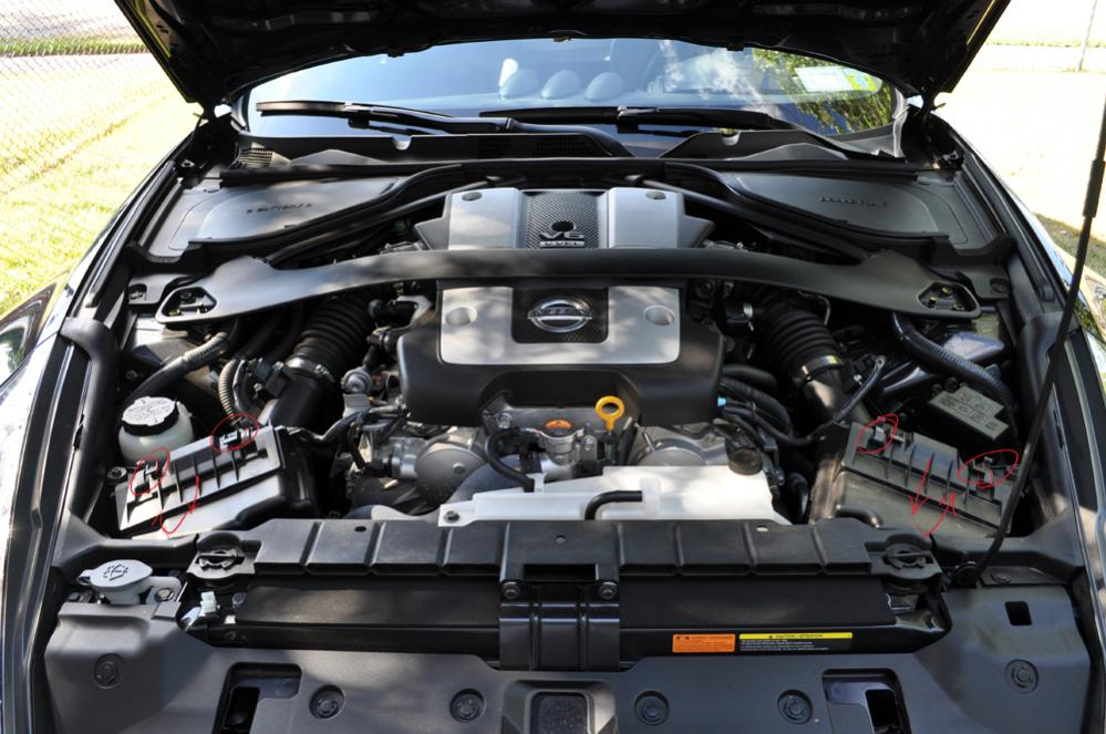 Cmike Albums K N Drop Filter Diy Picture There Clips Holding Each Filter Tray Each Airbox Just Unhook Slide Towards Front Car Pull Up Installation Reverse K N Will Snug But Does Fit You Will Have Muscle Clips Back Thats on Nissan Oil Filter Location