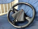 new cf steering wheel with matching shift boots. thanks to tony at cf element. he really does top notch work!