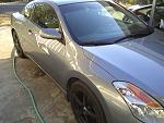 1 coat of z2, 1 coat of ZS-Clear Seal on my bro's car.  Also bad phone camera only 1.3 megapixels so doesnt show really what was going on.