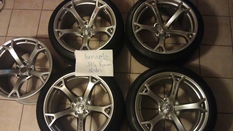 for sale set nismo oem wheels and tires nissan 370z forum. Black Bedroom Furniture Sets. Home Design Ideas