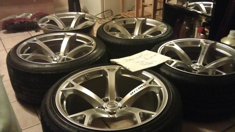 For Sale Set Nismo Oem Wheels And Tires Nissan 370z Forum
