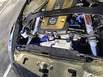 A close up of the engine bay.