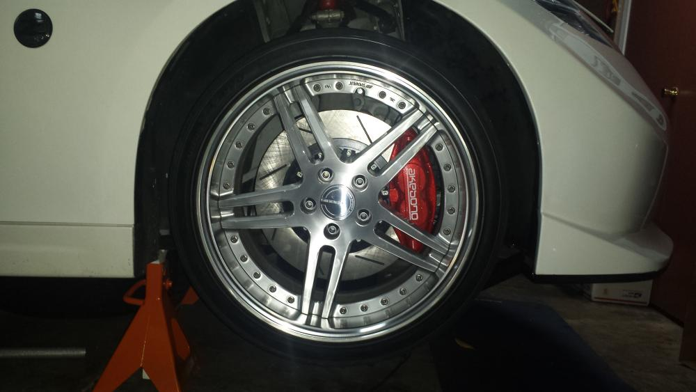 [For Sale] Powdercoated AKEBONO calipers, 2piece rotors ...