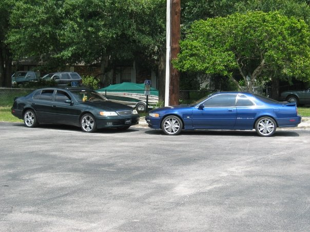 90 Something Lexus ES And 92 Acura Legend LS Coupe Both On 18s