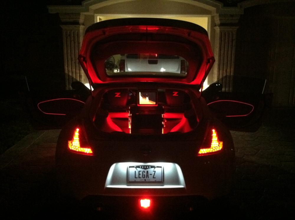 Experemeting with el wire! - Nissan 370Z Forum