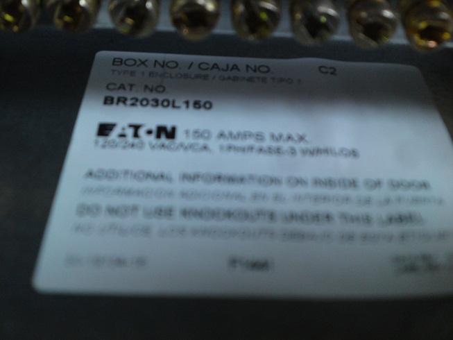 Eaton 150 amp breaker box: Converting main lug to main breaker ...