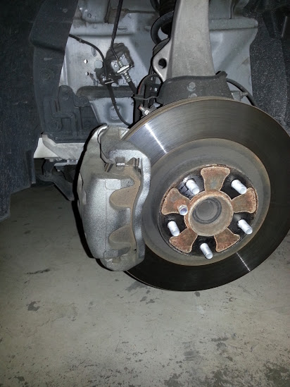 Before RED Caliper Paint
