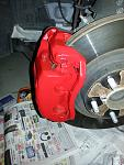 Red Brakes. Painted Everything