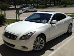 2012 G37 Coupe.  Wife car, except for car wash detailing times...