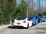Doing the conga in the Zs... Haha    The Woodlands Cars & Coffee  2.03.13