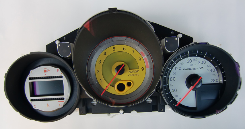 Custom 370z Instrument Cluster Colored Faces Nissan 370z