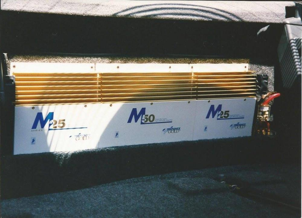 Phoenix Gold M Series Amps: Two M25s and one M50.