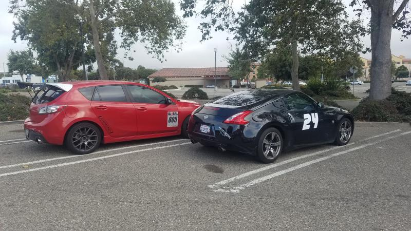Brother and I after my first autocross grabbing food