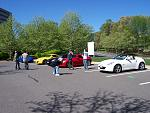The group talking Z. Oh hey, what is that? A Chicane Yellow 370Z. Lance I think you have company!