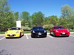 Paul's Chicane Yellow, Jon's Black, and Ross' (Paul's Brother) Red Z.
